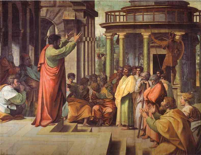 Raphael-Raffaello-Sanzio-Cartoon-for-St.-Paul-Preaching-in-Athens